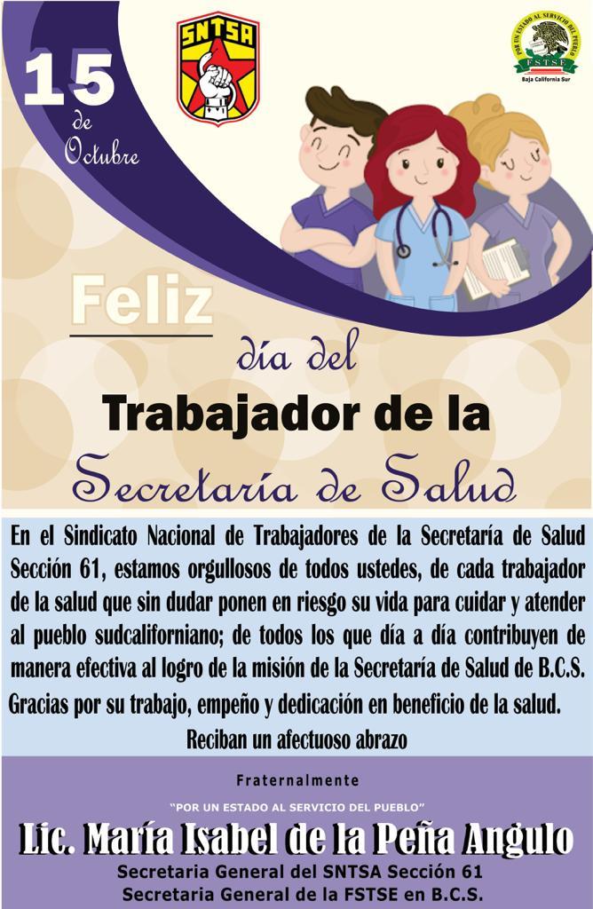Feliz Día del Trabajador de la Secretaría de Salud
